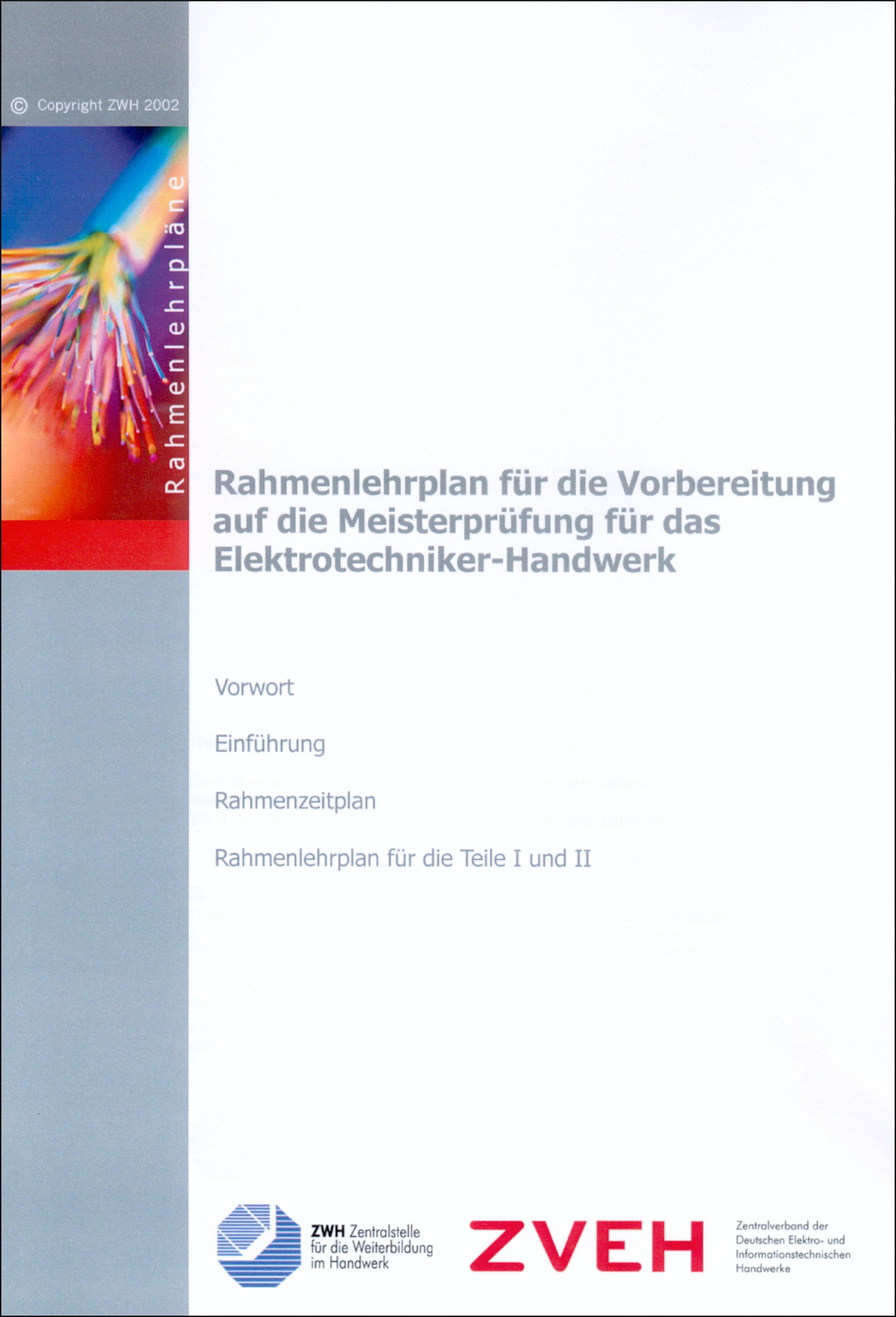 Rahmenlehrplan Elektrotechniker-Handwerk