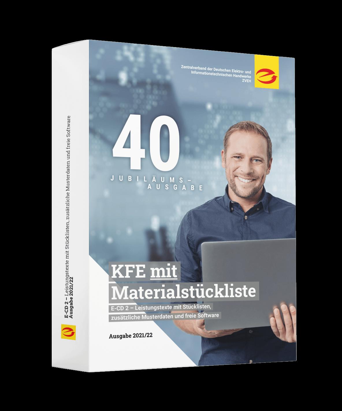 KFE-Daten mit Materialstückliste, Ausgabe 2021/22 (Lieferung ca. September 2021)