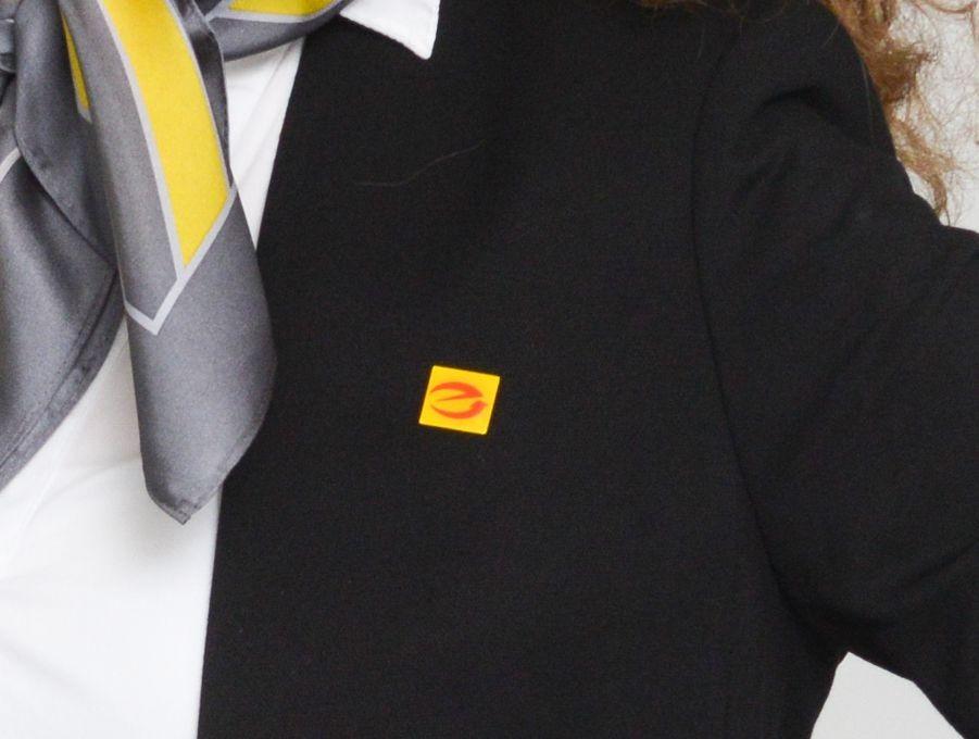 E-Marken-PIN mit Butterfly-Verschluß ca. 8 x 10 mm