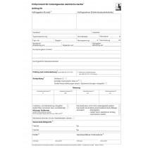 Prüfprotokoll für instandgesetzte elektrische Geräte mit e-Blitz