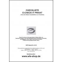 Checkliste E-CHECK IT PRIVAT mit E-Marke