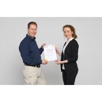 Zertifikat für die Weiterbildung zum Energie-Effizienz-Fachbetrieb